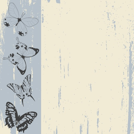 Grunge background sketch with butterflies Stock Photo - 8414351