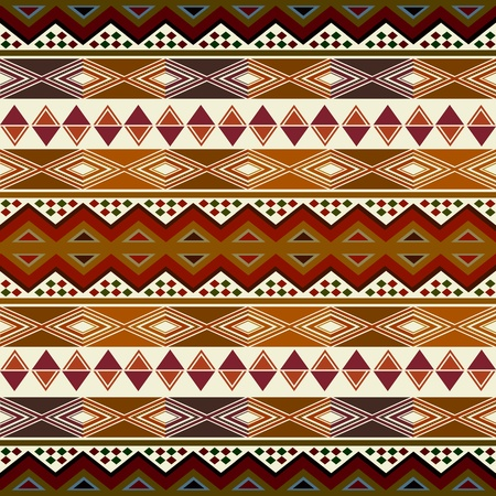 ethnic pattern: Multicolored african pattern with geometric shapessymbols