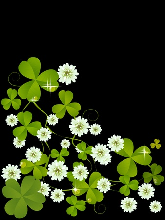 Celebration card with clover for St. Patrick's Day design Stock Photo - 8613912