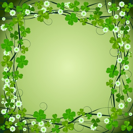Clover frame background for St. Patrick Day Stock Photo - 8613923