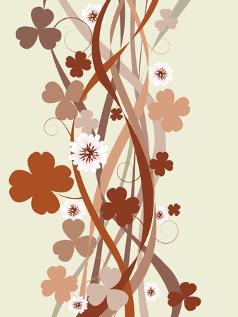 three leafed clover: St. Patricks Day background with stylized four leaves clovers