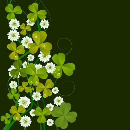 three leafed clover: St. Patricks Day design background, celebration card