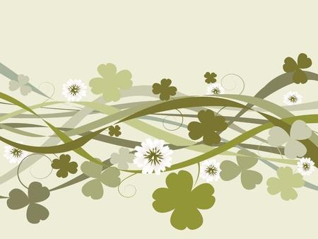 three leafed: St. Patricks Day illustration, celebration card Stock Photo
