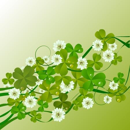 three leafed clover: St. Patricks Day design background