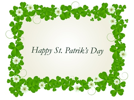 Happy St. Patrick's day celebration card Stock Photo - 8639074