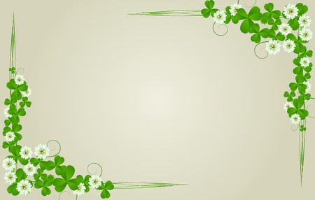 three leafed: St. Patricks Day postcard, standard size Stock Photo