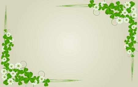 three leafed clover: St. Patricks Day postcard, standard size Stock Photo