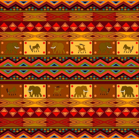 Ethnic pattern, decorative design with African motives. Vector