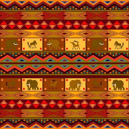 arte africano: Patr�n �tnico, Dise�o decorativo con motivos africanos.