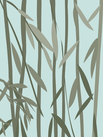 willow: Decorative willow leaves background Illustration