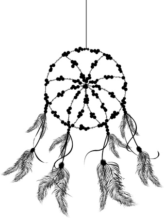 oklahoma: Dream catcher icon, isolated object over white background Illustration