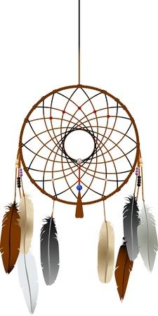 dreamcatcher: Dreamcatcher indio nativos americano sobre fondo blanco