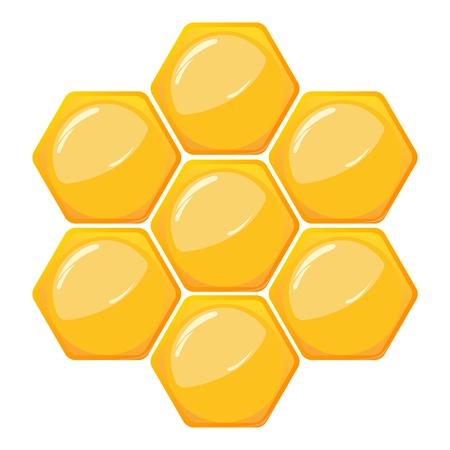 honeyed: Honeycomb pattern isolated on white Illustration