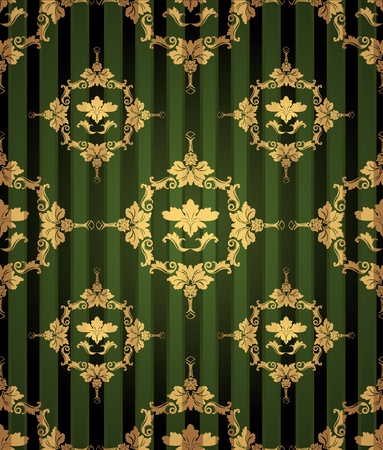 A seamless retro background with floral damask motives
