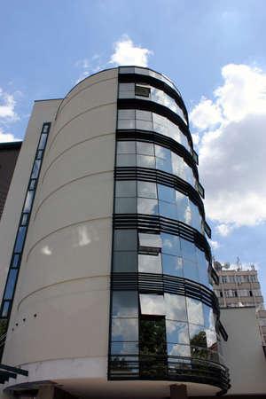 Skyscraper in the city of Cluj, Romania. Modern architecture Stock Photo - 9861086