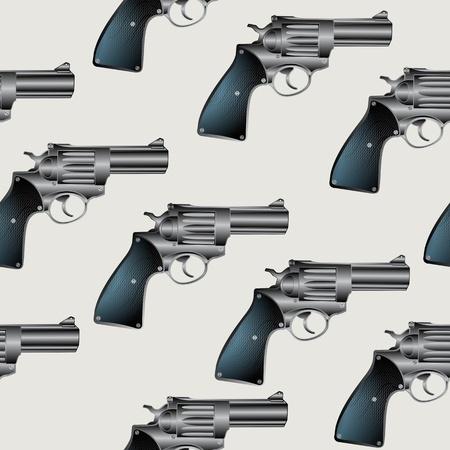 mano pistola: Fondo seamless con pistola, revolver