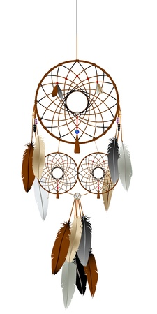 legends folklore: A native american indian dream catcher graphic