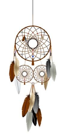 sogno: Una grafica catcher sogno indiani nativi americani