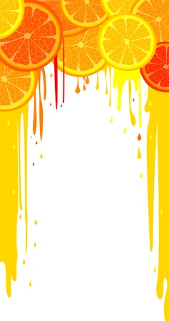 Lemon and orange slices abstract background with room for your text Vector
