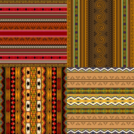Decorative traditional African backgrounds collection. Vector