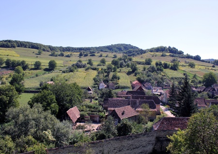 biertan: Sachs village of Biertan in the summer