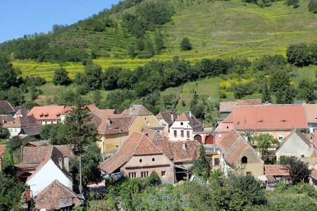 View from the village of Biertan, Transylvania Stock Photo - 10377507