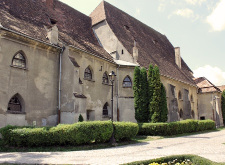 citadel: Side view of a saxon building in the city of Sighisoara, Transylvania Romania