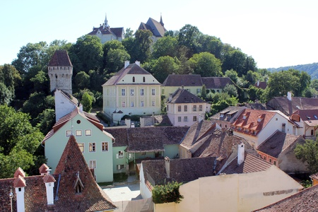 Church of Sighisoara, Transylvania in the summer Stock Photo - 10377462