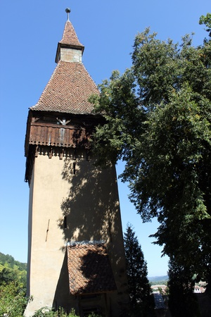 biertan: The tower of Biertan fortified church Stock Photo