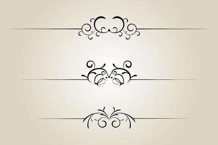 rule line: Ornamental rule line, page rule assortment Illustration
