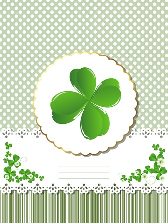 Decorative card  for St.Patrick Vector