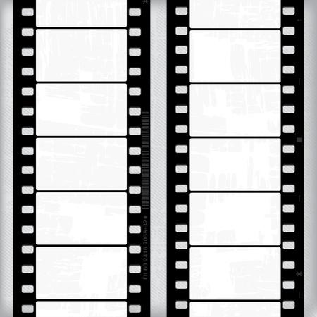 Abstract grunge with of movie frames or film strips Vector