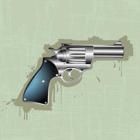 mano pistola: Immagine mostra una pistola, pistola nel corso di un grunge sfondo spogliato
