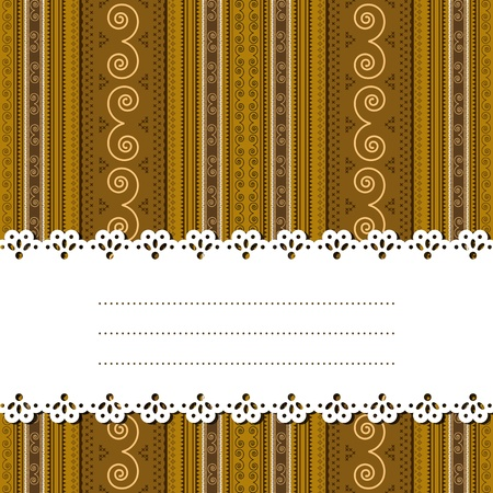 lucrative: Decorative ribbon for text over a african texture, background, no mesh or transparencies. Illustration