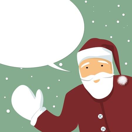 estereotipo: Santa Claus con bocadillo, una tarjeta de invierno