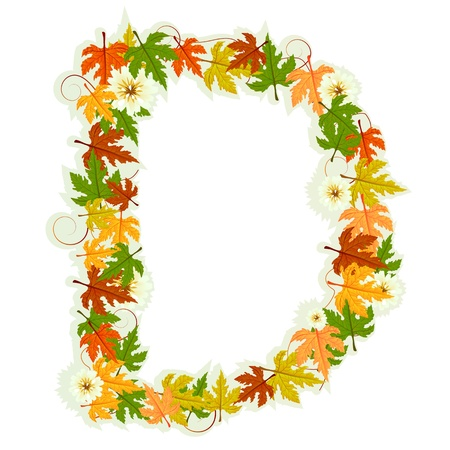 Pattern letter made from flowers and leaves Stock Vector - 10922475