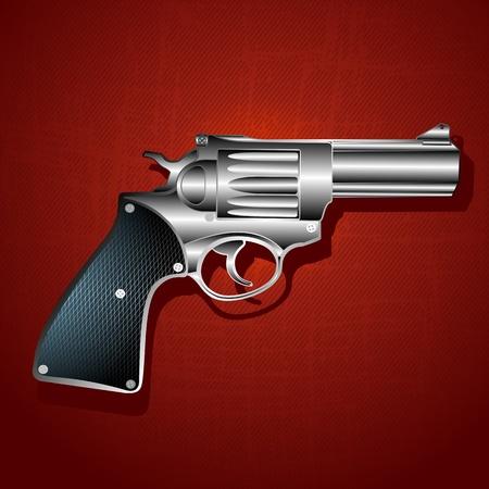 mano pistola: Grunge pistola sfondo mano, illustrazione arte astratta