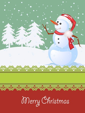 Winter celebration card with room for text, Christmas and New year illustration Vector