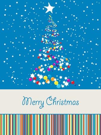 joyous: Feliz tarjeta de Navidad con espacio para texto Vectores