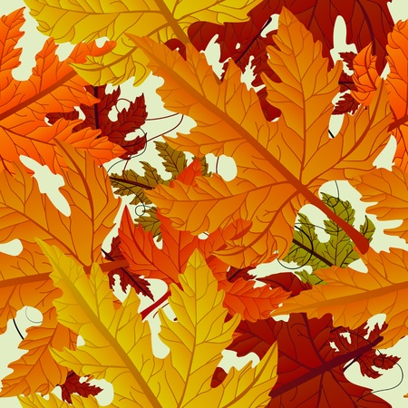 copy paste: Autumn background, seamless tile with maple leaves. Abstract background, easy to edit, copy paste.