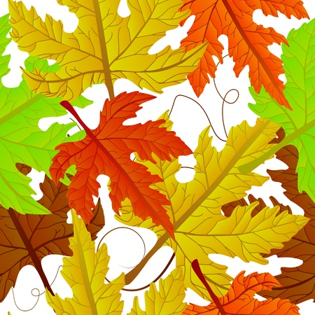 Autumn leaves carpet,  seamless pattern. Abstract background, easy to edit, copy paste. Vector