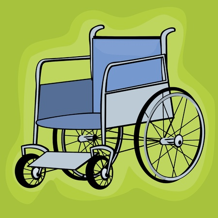 medicine wheel: A clip art wheelchair icons over white background Illustration