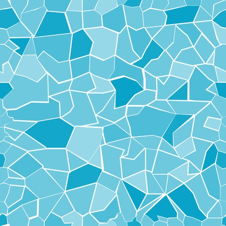 Seamless background pattern with broken glass pieces in global colors only. Vector