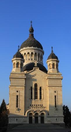 cluj: Orthodox Cathedral in Cluj Napoca city, Romania. Stock Photo