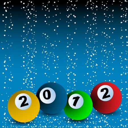 2012 New years Billiard ball arrangement Vector