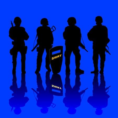 guard duty: El terror contra la polic�a armados y blindados. el arte abstracto.