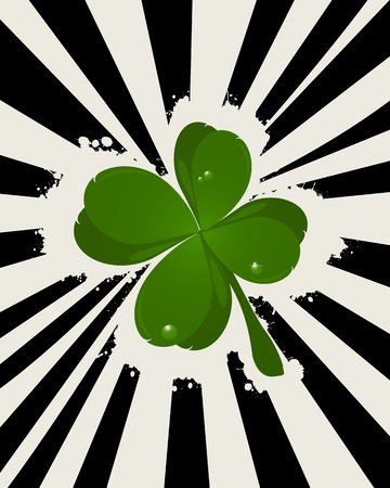 four leaf clover: Abstract St  Patrick Illustration