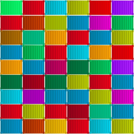 export import: Shippment containers background, abstract art