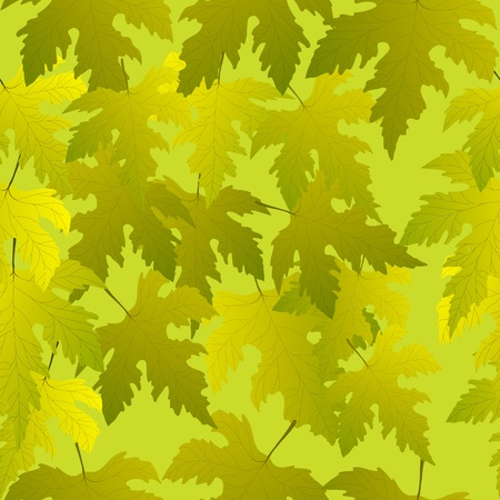 Green grape leaves seamless pattern, easy to edit, paste to illustrator pattern box  Vector