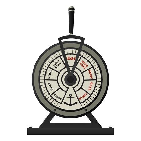 telegraaf: Retro koperen schepen telegraaf, geïsoleerd op een witte achtergrond Stock Illustratie